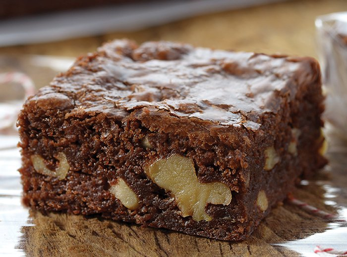brownie com nozes