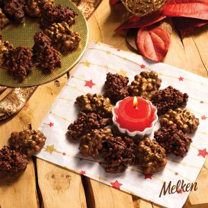 guirlanda de chocolate melken e flocos de arroz top